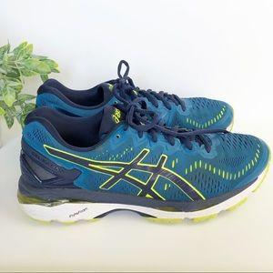 ASICS GEL-KAYANO 23 Blue Green Running Shoes